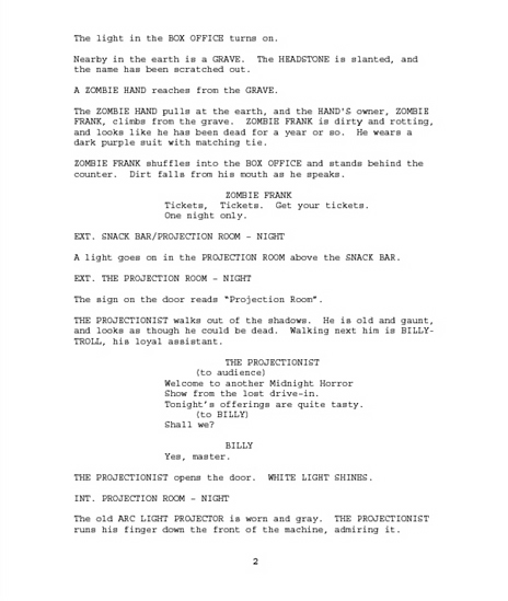 "how to write a script format Michael ray brown, a hollywood script doctor, compiled this script format guide as a service to ensure your screenplay gets a fair read, follow these rules insert three blank lines, and then write ""the end"" centered, in all caps, and underscored (but without the quotes): screenplay snippet - top of first page contact."